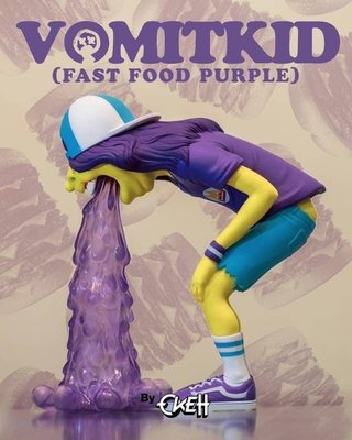 [FDOF] 預購 MIGHTY JAXX - VOMIT KID(FAST FOOD PURPLE)BY OKEH 嘔吐男孩