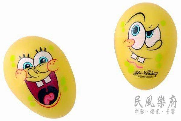 《民風樂府》SpongeBob 正版授權 海綿寶寶 SBPP003 蛋沙鈴 輕巧好帶 聲音輕脆好聽 現貨在庫
