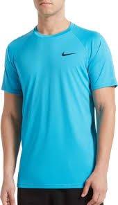 【鞋印良品】NIKE DRI-FIT速乾科技 SOLID 短袖防曬T恤 NESS9531-430 藍 40+抗UV材質