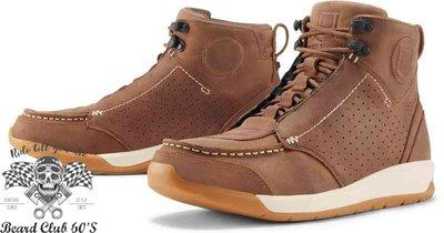♛大鬍子俱樂部♛ ICON ® Truant 2 美式 復古 街頭 皮革 休閒 D3O 腳踝保護 車靴 棕色
