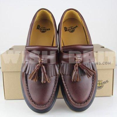 【~希望~完美馬汀】Dr. Martens adrian loafer ~七天鑑賞免運~  流蘇 帆船鞋 酒紅 男女鞋
