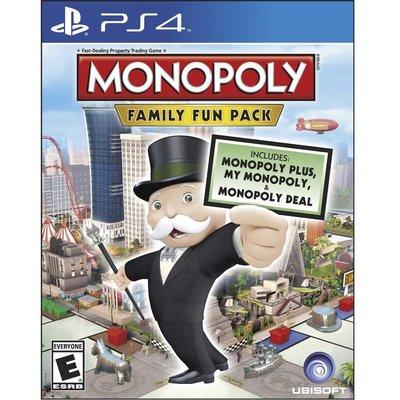 (全新外封膜破損) PS4 地產大亨:家庭歡樂包 英文美版 Monopoly Family Fun Pack 大富翁