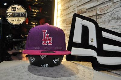 New Era x MLB LA Dodgers Purple/Peach 59Fifty 洛杉磯道奇隊紫桃紅全封帽
