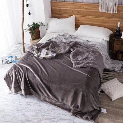 法蘭絨羊羔絨暖毯被150x200cm素色羊羔絨被子單色有8色保暖毛毯車上寢具溫暖湖藍色紅色咖啡色
