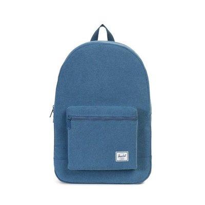 (預購商品) Herschel Supply Co daypack 藍色 提把 水洗 帆布 貼布 LOGO 書包 後背包