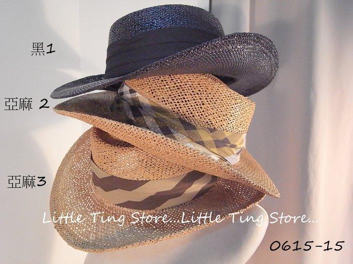 Little Ting Store: MIT台灣製高爾夫球帽草帽立體硬挺藤編織紳士帽 海灘帽 頭大男生適用喔 黑/亞麻
