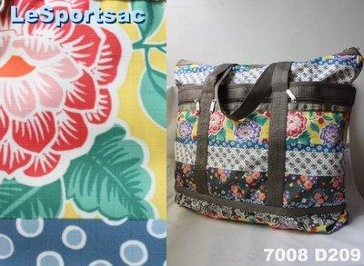 【LeSportsac】100% 全新正品 7008 D209 / JAMBOREE 超大容量 側肩包 托特包 旅行袋 媽媽包
