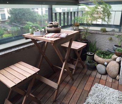 簡易實木折疊桌椅子餐桌子戶外陽臺休閒咖啡桌椅學習書桌