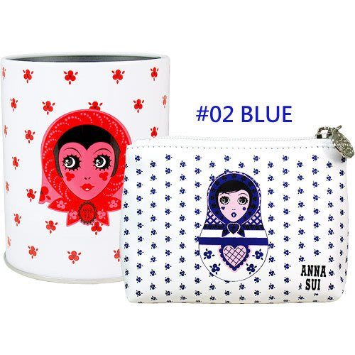 【∮魔法時光∮】ANNA SUI安娜蘇 Dolly洋娃娃收納桶零錢包組(含刷具筒+零錢包)