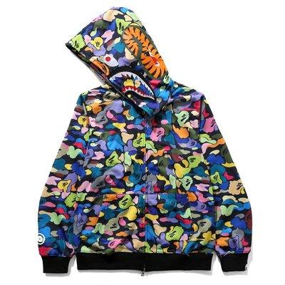 全新正品 BAPE Candy Camouflage shark hoodie  連帽外套