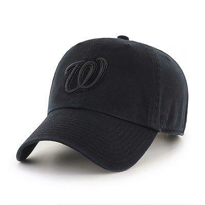 【YZY台灣】47 BRAND 華盛頓國民 W NATIONALS 老帽 復古帽 老爺帽 MLB LOGO 經典 全黑