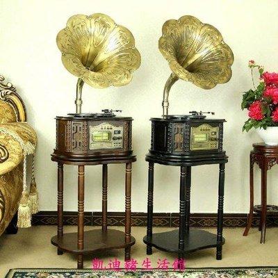 【凱迪豬生活館】F809留聲機 大喇叭老式黑膠唱機 仿古唱片收音 CDMP3復古電唱機KTZ-200903