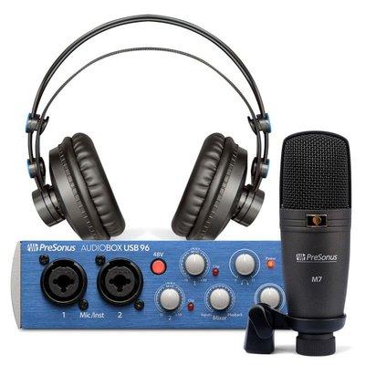 造韻樂器音響 - JU-MUSIC - Presonus 錄音介面 AudioBox USB 96 Studio New