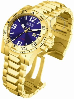 展示品 Invicta Reserve 6248 50mm Excursion Swiss Quartz Date Blue Dial Mens Wa