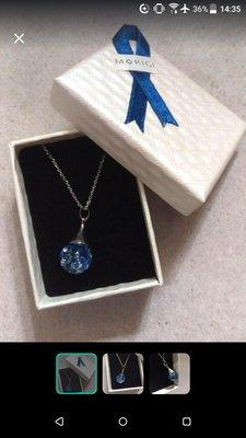 Morigi necklace(裡面藍色珠可隨水流移動)