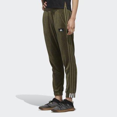 =E.P=Adidas PT VELOUR 卡其棕 愛迪達 休閒針織長褲 女款 FR5972
