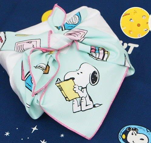《散步生活雜貨》日本製 PEANUTS - SNOOPY 史努比 學校系列 便當包巾 大方巾STA-552
