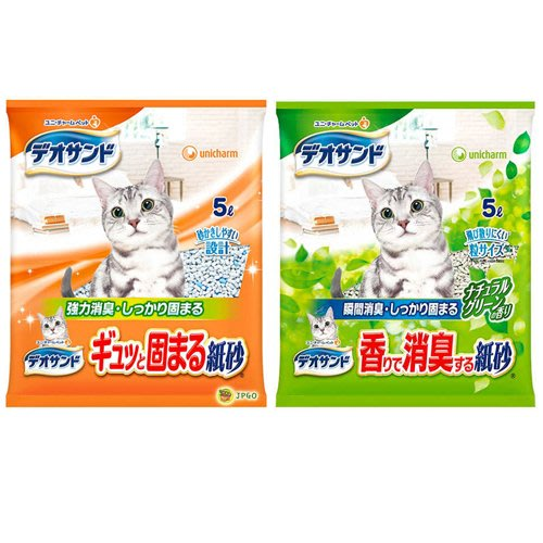 【JPGO】預購-日本製 嬌聯 Unicharm 消臭大師 瞬間結團除臭紙砂 5L~清香845 綠茶965