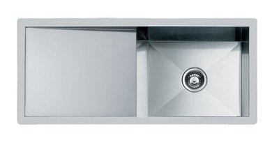 ¢魔法廚房*義大利 FOSTER 1210 050不銹鋼長方形水槽附導水平台 期貨 106.4*46.4