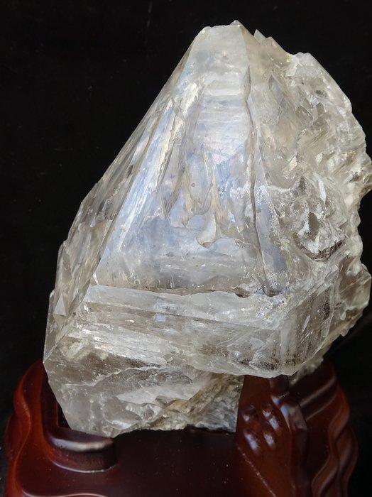 ~shalin-crystal~巴西水膽鱷魚骨幹水晶~3.54公斤~晶質清透~含萬年水~帶水~帶財~值得收藏!