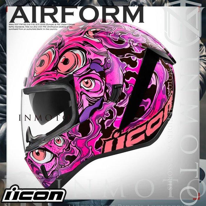 伊摩多※美國 iCON AIRform ILLUMINATUS 眼怪 粉紅 全罩小帽體 安全帽 內墨片 夜光 2色