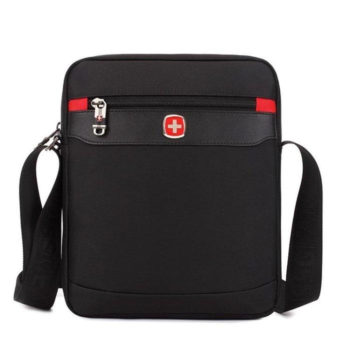 瑞士軍刀男包單肩包斜挎包休閒帆布包牛津布尼龍商務公文包電腦包