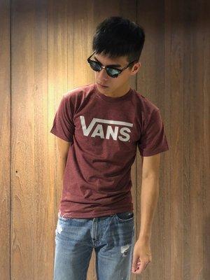 美國百分百【全新真品】VANS T恤 T-shirt 短袖 卡車 滑板 潮流 logo 復古紅 G738