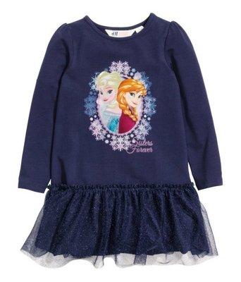 H  M 冰雪奇緣長袖紗裙洋裝 8~10歲  690含運