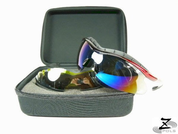 【Z-POLS旗艦新世代搶先款】五組可換帥氣運動款可配度!一片式UV4太陽眼鏡(舒適頭墊