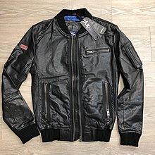 跩狗嚴選 限量特價 極度乾燥 Superdry Leather 神射手 MA1 真皮 皮衣 飛行夾克 外套 頭層皮 縮口