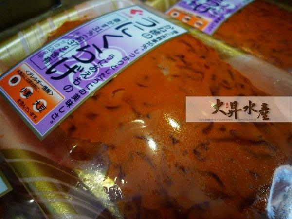 【大昇水產】行家首選日本原裝進口海膽海蜇皮/調味雲丹