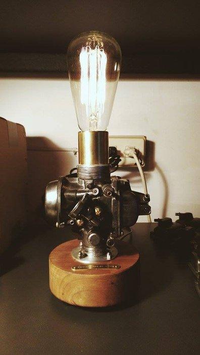 (I LOVE樂多)台灣設計製造CarbuLight化油器情境燈(櫻桃木) 氣氛燈 手工裝配