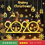 港灣之星- 圣誕節裝飾品圣誕麋鹿老人雪人玻璃...