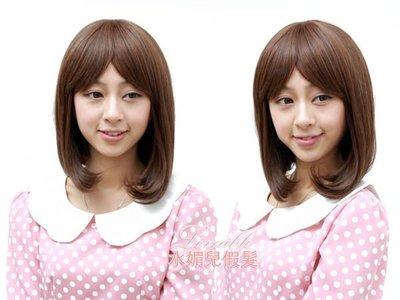 水媚兒假髮-日韓系3L451-H氣質甜美女孩BOB頭 -深棕現貨