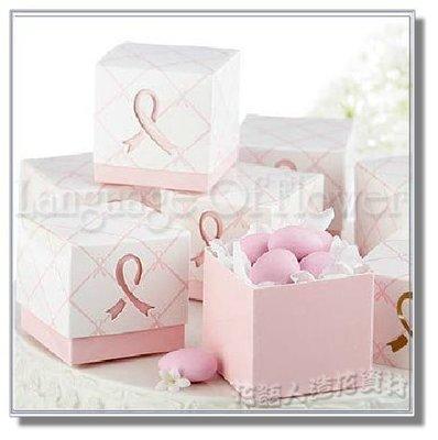 ◎花語人造花資材◎*粉色蝴蝶結喜糖盒*禮品包裝盒~婚禮小物~喜糖盒