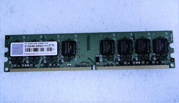 ~ 駿朋電腦 ~ 創見 2G DDR2 800 桌上型記憶體 雙面顆粒 $150