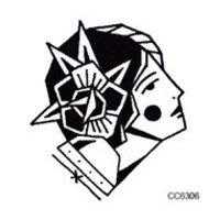 【萌古屋】花花男子單圖 - 男女防水紋身貼紙原宿刺青貼紙CC6306 K37