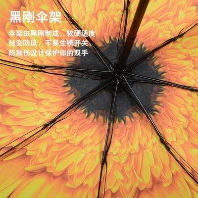 2017~升旺 創意三折晴雨兩用折疊雨傘防曬遮太陽傘男女加固黑膠-QDSC-16926