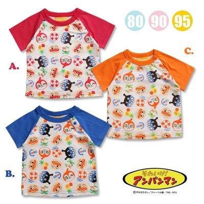 【小糖雜貨舖】日本 ANPANMAN 麵包超人 遊泳圈系列 短袖T恤套裝/上衣/圓領衫/童裝