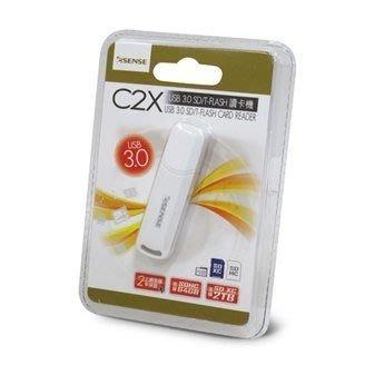 【米路3C】Esense C2X USB 3.0 SD/ Micro SD T-FLASH 讀卡機 支援SDHC 64GB ,  SDXC 2TB 黑.白二色 台中市