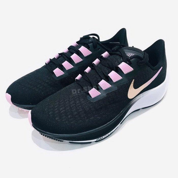 【Dr.Shoes】Nike Zoom Pegasus 37 女鞋 慢跑鞋 小飛馬 黑粉 BQ9647-007