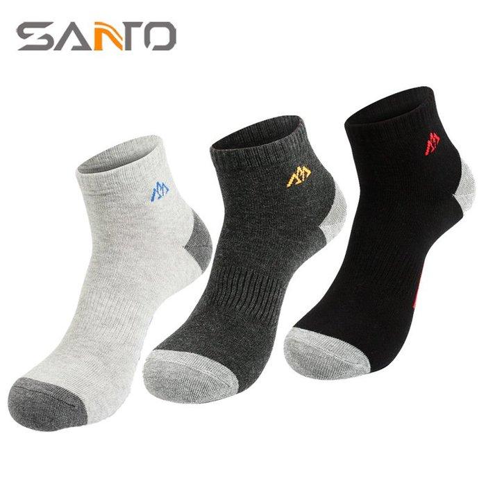 [庫木]2001現貨7-11全家快速到貨韓國運動襪羊毛襪登山襪加厚SANTO 山拓戶外襪透氣吸汗運動襪男士襪子薄款短襪女