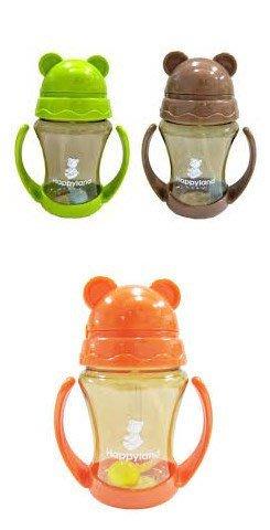 【小不點童樂會】朴蜜兒-tritan防脹氣十字孔自動果汁杯/喝水杯 咖啡色/綠色/橘紅色可選 台中可面交