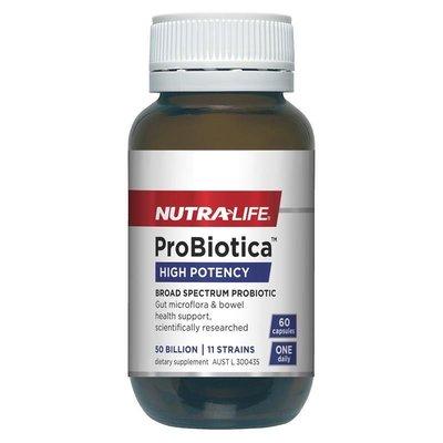 ‼️現貨‼️🇦🇺澳洲 Nutra-Life ProBiotica 紐樂 高活性益生菌 加強版益生菌 50 Billion 60顆