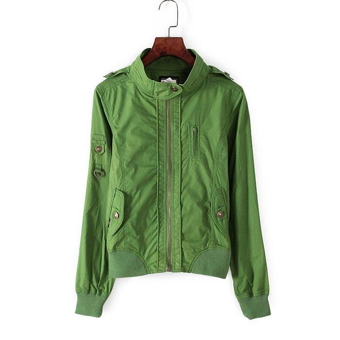 【Et Boite撤櫃特價品 綠色短版風衣夾克外套軍裝】 專櫃撤櫃女裝 保證全新正品 一流品牌