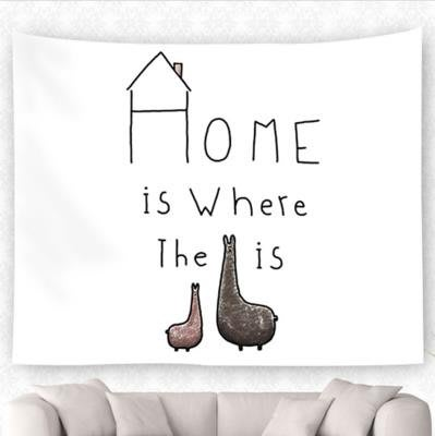 背景布 掛布 墻壁掛飾 背景墻 掛毯 北歐ISN卡通可愛火烈鳥掛壁布墻壁裝飾掛毯桌布背景布臥室掛簾