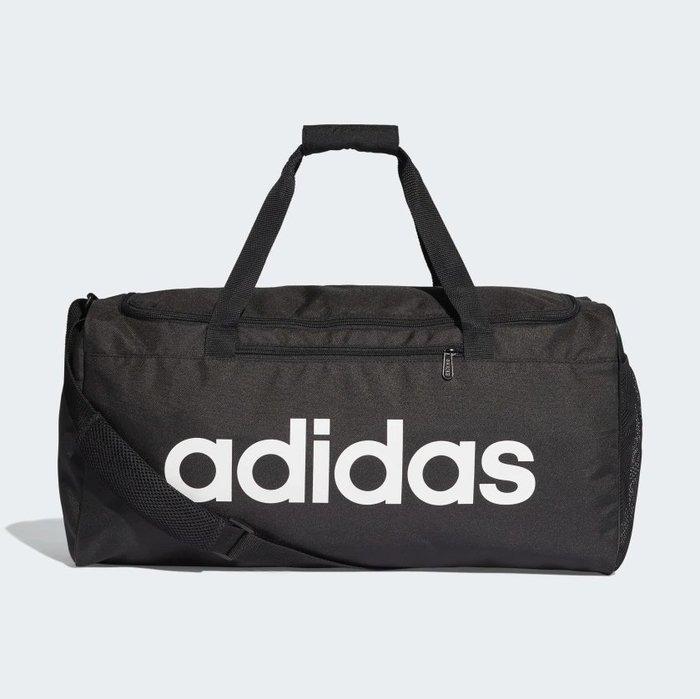 ADIDAS LINEAR CORE DUFFEL BAG M 愛迪達 中型裝備袋 黑 DT4819