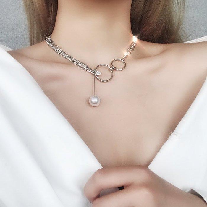 歐美鎖骨鏈女日韓國簡約短款項鏈頸帶頸鏈學生脖子飾品