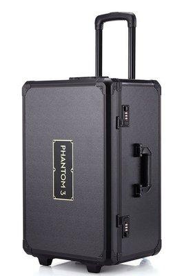 全人類購物--DJI悟 大疆phantom 3 4 精靈3/4專用 拉杆箱 鋁箱滑輪免拆槳 空拍機箱 無人機配件箱