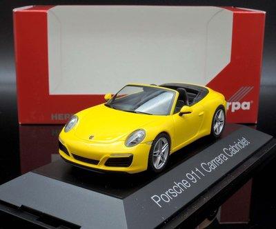 【MASH】[現貨特價]  Herpa 1/43 Porsche 911 (991) Carrera Cabriolet